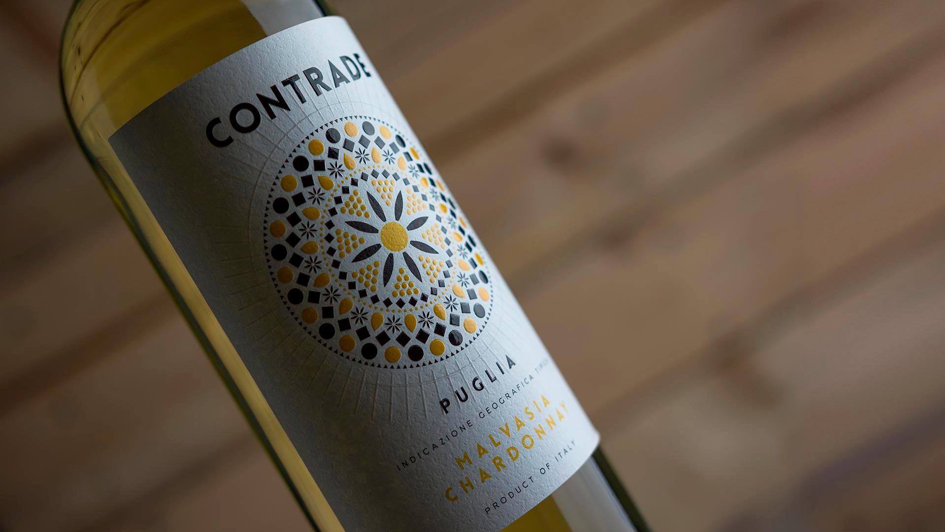 Contrade Malvasia Chardonnay MAD13 1920 - Label Design Etichette vini Contrade