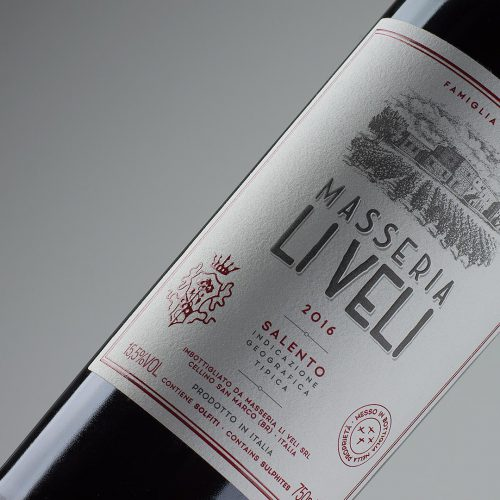 Masseria Li Veli MLV Label Design