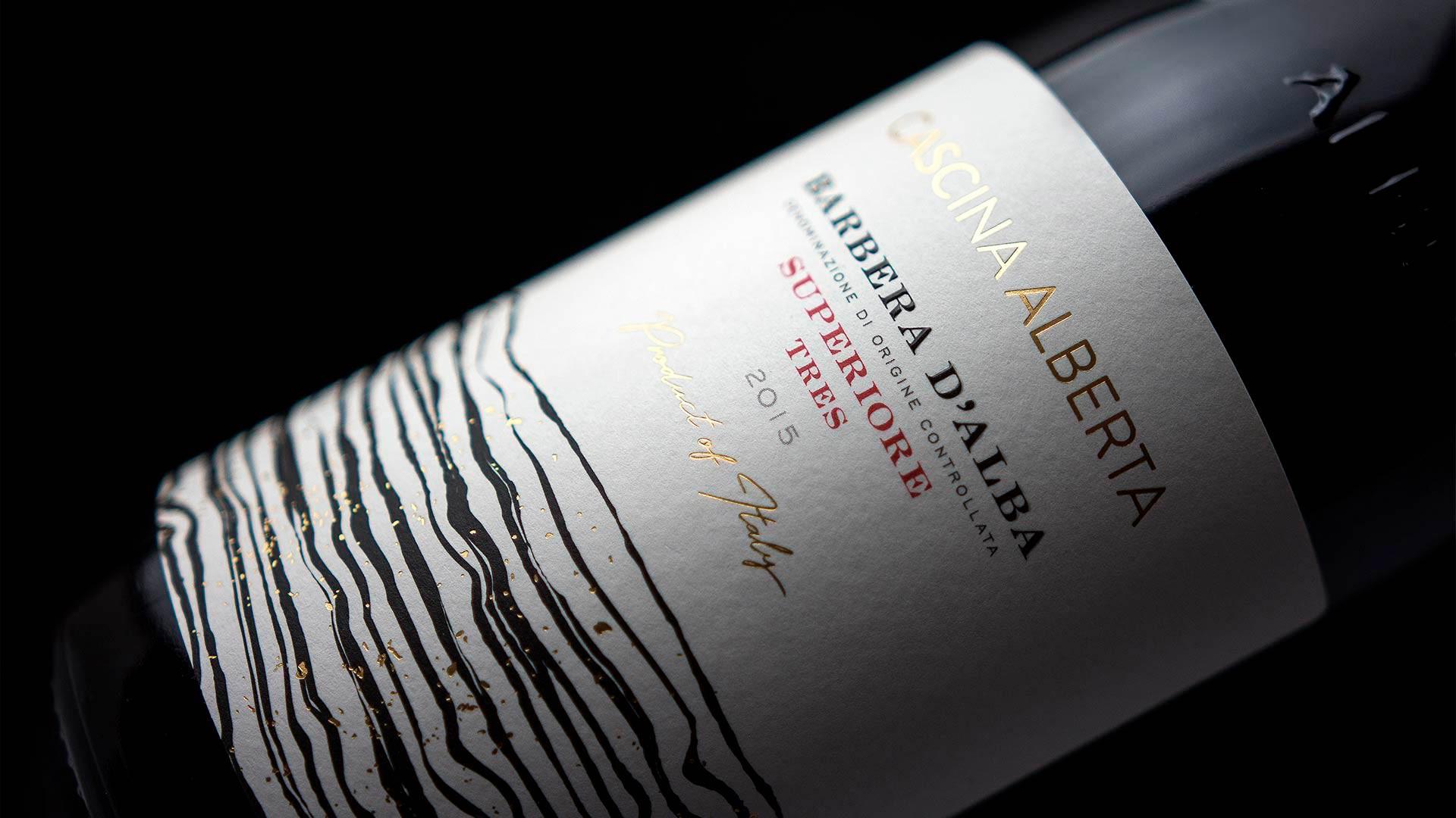MAD13 Cascina Alberta Barbera Alba Tres 1920 - Wine Label Design Cascina Alberta