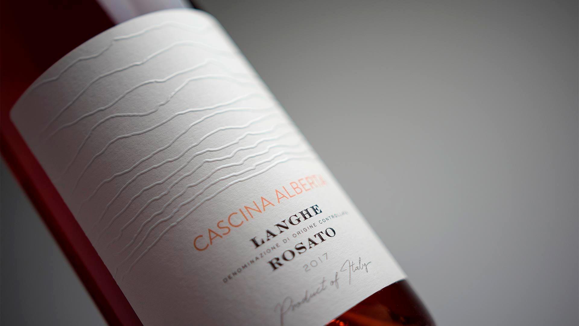 MAD13 Cascina Alberta Langhe Rosato 1920 - Wine Label Design Cascina Alberta
