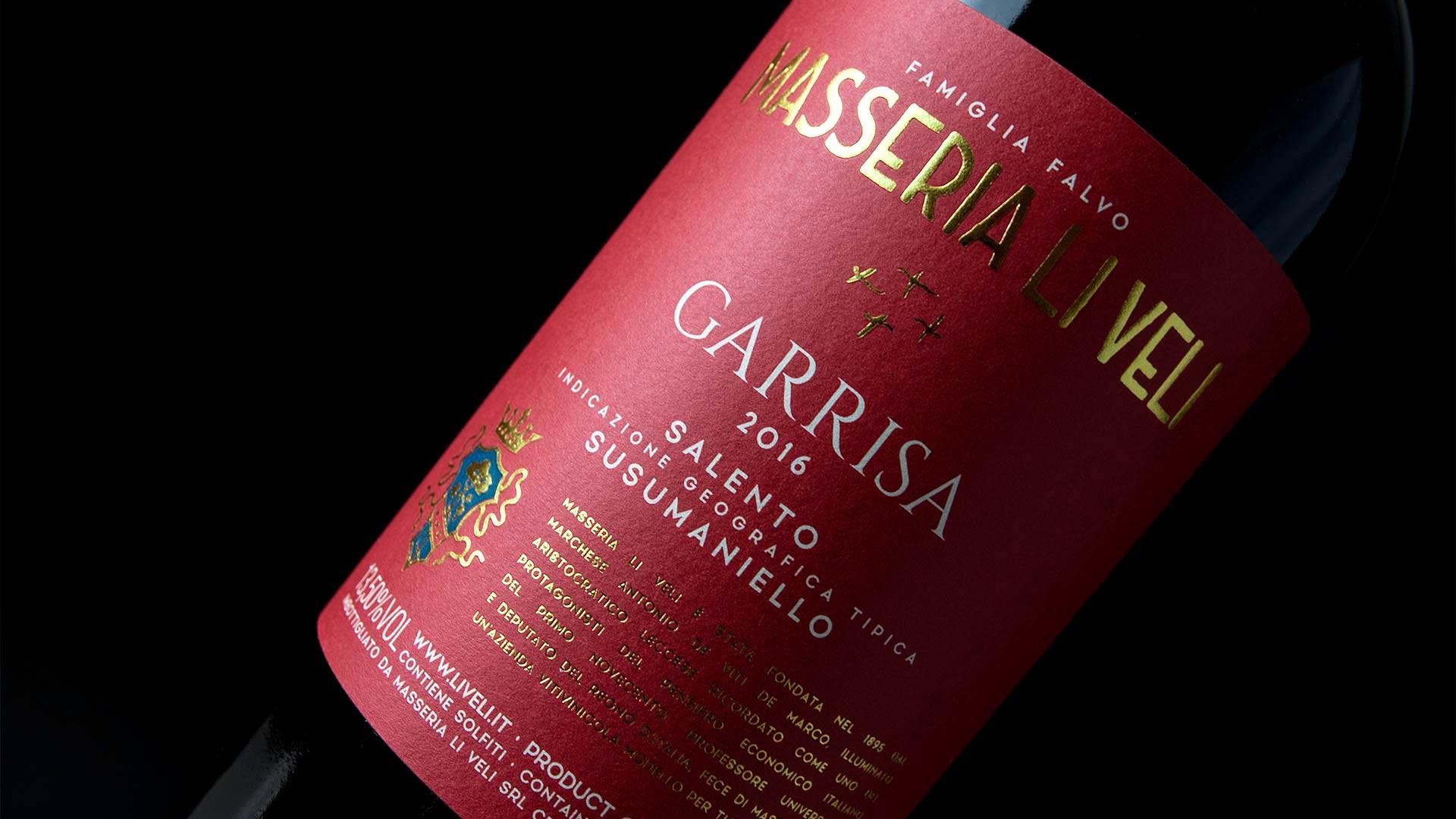 MAD13 Masseria Li Veli Garrisa 1920 - Label Design Etichette vini Masseria Li Veli