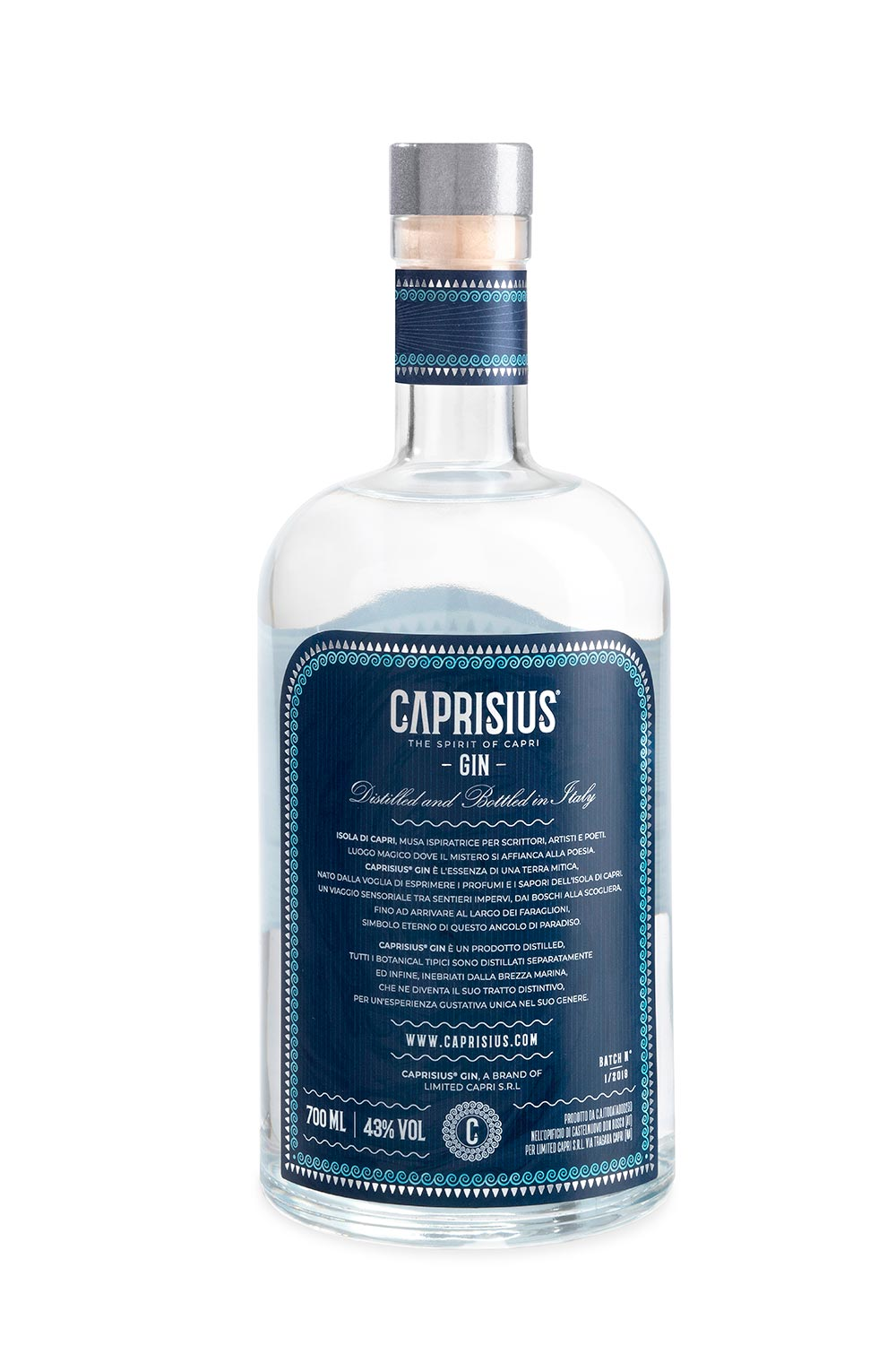 caprisius back label 1500 - Branding & Label Design Caprisius Gin